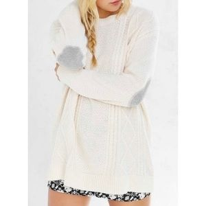 BDG Cream Cable Knit Sweater